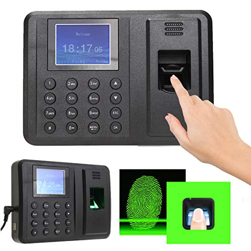 MJJEsports HD-Bildschirm, Passwort, Fingerabdruck, Zeitaufnahme, Anwesenheitsmaschine