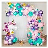 letaowl Kit Guirnalda Globos 156pcs Fiesta de cumpleaños Garland Pastel Pastel Decoraciones para niños Suministros de Fiesta de cumpleaños