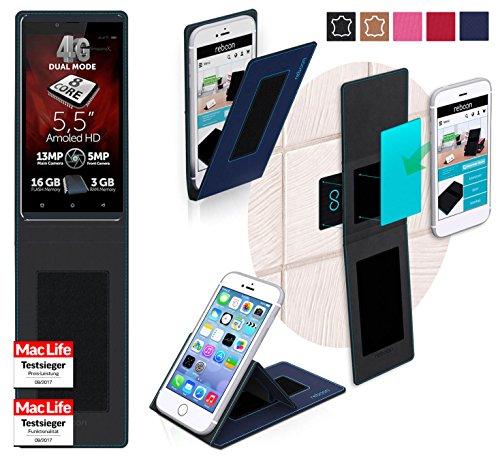 reboon Hülle für Allview V2 Viper X+ Tasche Cover Case Bumper | Blau | Testsieger