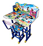 This lovely study desk is perfect for your child's initial schooling years Age Between 3-10 Years. Four level Height Adjustable in Both Table and Chair. This table chair set is sturdy and durable. the study table set has a sleek, trendy and functiona...