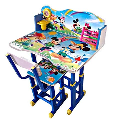 FURNITURE FIRST American Frozen NX Team Kids Study Table & Chair Set for Kids (3-10 Years)) Colour - Blue)