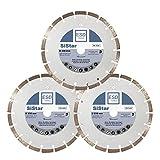 3x Profi Diamant-Trennscheibe Beton SiStar Ø 230 mm - 22,23 mm Bohrung 10 mm SegmenthöheDiamant-Trennscheibe für Beton, Bordstein, Dachziegel und allg. Baumaterialien - ESD TOOLS