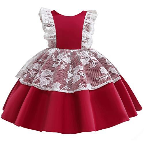 Alwayswin Kleinkind Kinder Mädchen Halloween Kleid Prinzessin Party Tüll + Hut Set Cosplay Kostüm Mode Ärmelloses Abendkleid Sommerkleid Mesh-Kleid Süßes Kurzes Kleid