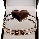 braceletwly Bracelet Lady Coeur élégant Bracelet Bracelet Bracelet ManchetteAnniversaire Festival Cadeaux@A_25.5cm