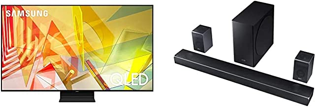 $2995 » SAMSUNG 55-inch Class QLED Q90T Series - 4K UHD Direct Full Array 16X Quantum HDR 12X Smart TV with Alexa Built-in (QN55Q90TAFXZA, 2020 Model) with Harman Kardon 7.1.4 Dolby Atmos Soundbar