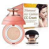 BB Cream, CC Creme, Líquida Fundación, Mushroom Head Air Cushion BB Cream, Ocultador, Base de Maquillaje, Resistente al Agua, Cobertura Larga duración Corrector de Maquillaje para Rostro