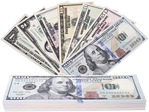 RUVINCE Play Money That Looks Real Prop Money Dollar 3 760 Fake Dollar Bills USD Cinema Props product image