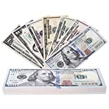 RUVINCE Play Money That Looks Real Prop Money Dollar $3,760 Fake Dollar Bills USD Cinema Props Prop Stack