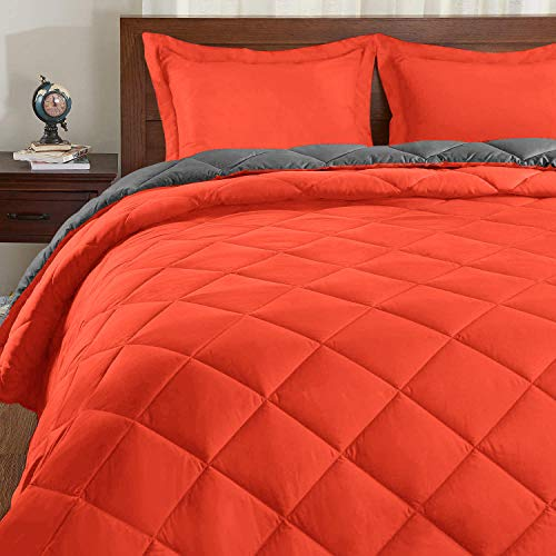 Basic Beyond Down Alternative Comforter Set - Reversible Bed Comforter...