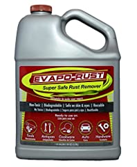 One Gallon Rust Remover is environmentally-safe water-based product that removes rust in minutes, without scrubbing or sanding Non-toxic, Biodegradable, Non-corrosive, Safe on skin and eyes, No fumes or bad odors, Contains no acids, bases, solvents, ...