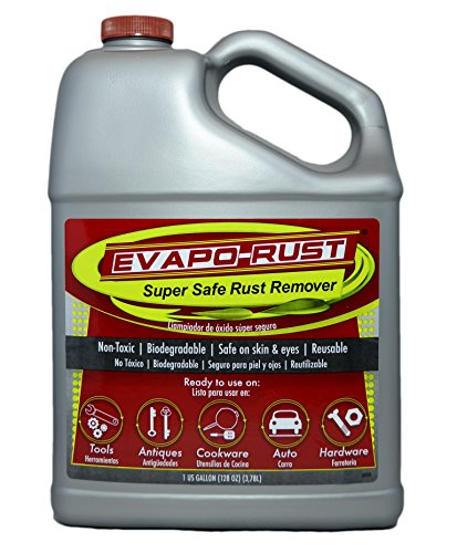 Evapo-Rust The Original Super Safe Rust Remover, Water-Based, Non-Toxic, Biodegradable, 1 Gallon,Gray,ER012