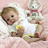 22'' Handmade Lifelike Newborn Silicone Vinyl Reborn Baby Doll Full Body Gifts, Toy Solid Soft Silicone Handmade Kit DIY Kits for Reborn Baby Lifelike Doll Easter Gifts