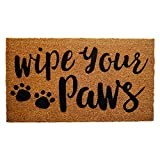 """Coco Coir Door Mat with Heavy Duty Backing, Wipe Your Paws Doormat, 17""""x30"""" Size, Easy to Clean Entry Mat, Beautiful Color and Sizing for Outdoor and Indoor uses, Home Decor"""