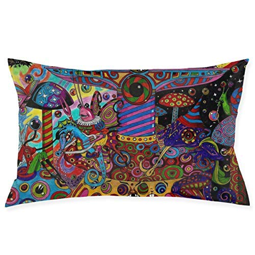 Personality Colorful Psychedelic Trippy Art Throw Cushion Cover Throw Pillow Cover Rectangular New Living Series Decorative Throw Pillow Case Double Side Design 29.9' X 19.6' Family Indoor Sofa Car