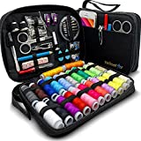 SEWING KIT for Adults with over 100 Easy-to-Use Premium Sewing Supplies & 24-Color Threads, a Needle & Thread Kit for Small Fixes at Home & On-the-Go, Beginners Travel Sewing Kit for Emergency Repairs
