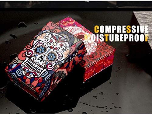 RDJSHOP Caja de Cigarrillos de Plástico Portátil Patrón de Cráneo Creativo Titular de Caja de Cigarrillos Ligero, Caja de Cigarrillos con Tapa Abatible para Hombre y Mujer,B