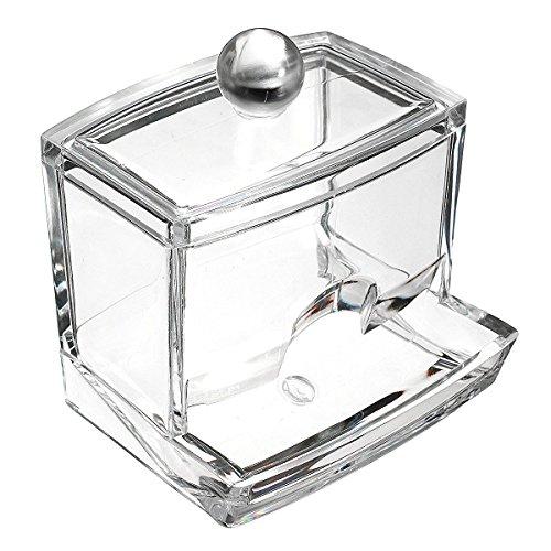 Milopon Wattestäbchen-Box Wattepads Wattestäbchen Aufbewahrung Halterung Make-up-Organizer aus Acryl Aufbewahrungsbox