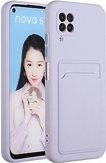 Molg Huawei P40 Lite 5G-Fodral [Skärmskydd] Ultratunna Mjuk TPU Silikon Stötsäker Stötfångare Omslag Med Kortplats Skyddan...