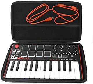 Khanka Hard Travel Case Replacement for Akai Professional MPK Mini MKII 25-Key USB MIDI Controller (1)