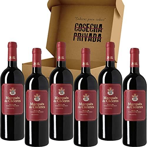Marques de Caceres Crianza - Envío Gratis 24 H - Caja de 6 Botellas - Vino Tinto Rioja - Seleccionado y enviado por Cosecha Privada