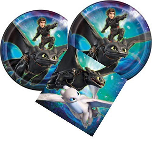 How To Train Your Dragon 3 Party Plates and Napkins for 16 guests from The Hidden World
