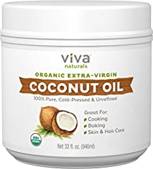 MADE FROM FRESH, ORGANIC COCONUTS – Cold-pressed from fresh, organic coconuts, Viva Naturals Extra-Virgin Coconut Oil delivers rich flavor and aroma that's nutrient rich and naturally delicious. PERFECT FOR COOKING, FRYING & SPREADING - With a natura...