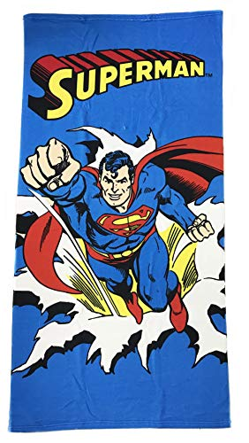 Toalla Microfibra Superman DC Comic Azul Playa Piscina 70x140cm