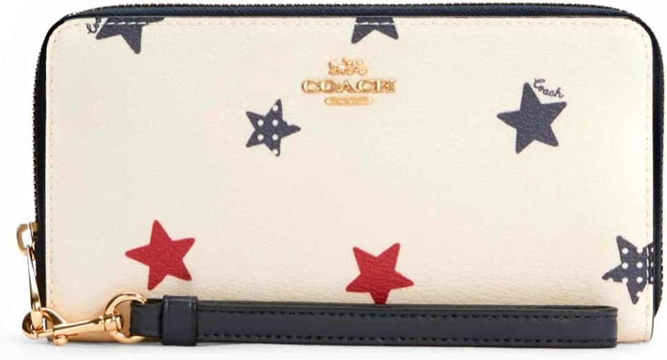 COACH Womens Long Zip Around Wallet 55% OFF Print American With Cha Recommended Star
