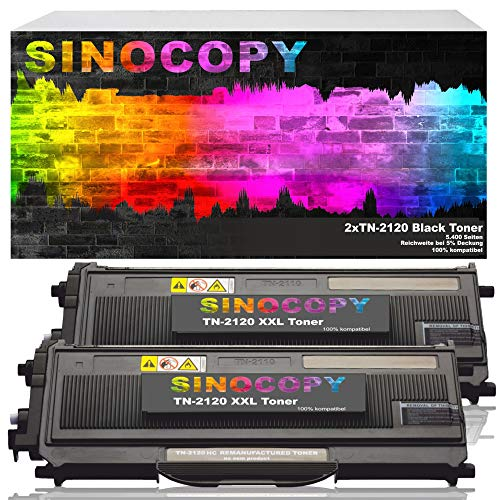 2 SinoCopy XXL Toner für Brother TN-2120 TN-2110 Brother HL-2140 MFC-7340 MFC-7320 DCP-7030 DCP-7040 DCP-7045 N HL-2150 N NR HL-2170 WR N W MFC-7320 W MFC-7440 W N MFC-7840 W TN2120 TN2110