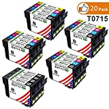 Toner Kingdom 20 Pack (4 Set + 4 Noir) Compatible Epson T0711 T0712 T0713 T0714...