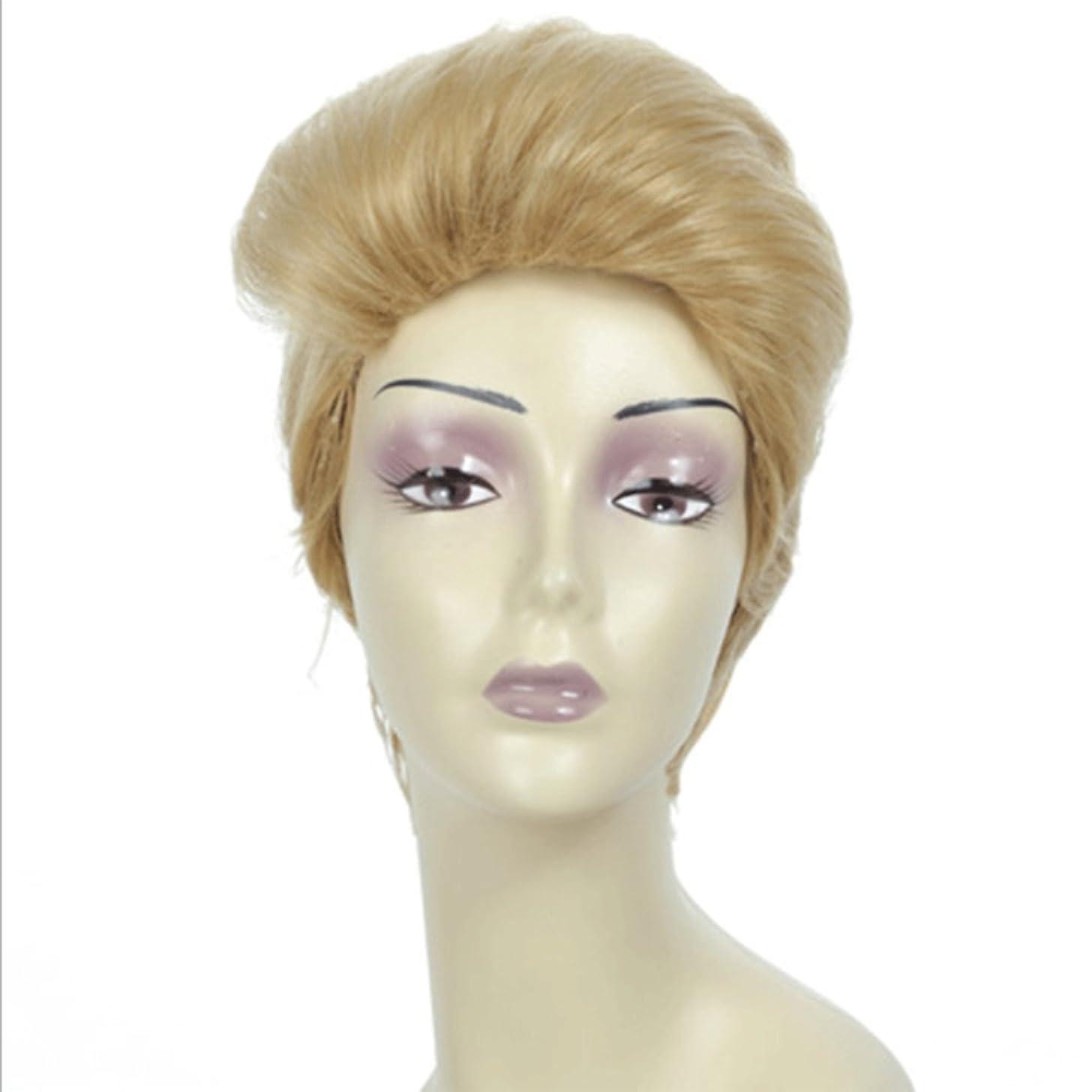 低い徹底追い払うメンズナチュラルブロンドウィッグストレートヘアピース高密度耐熱合成ウィッグ