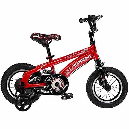HAIZHEN Kinderwagen Safety Sport Kids Fahrrad mit Seitenständer und Zubehör für Kinder im Alter von 2-9 Jahren | 12 Zoll, 14 Zoll, 18 Zoll für Mädchen/Jungen | Für Neugeborene