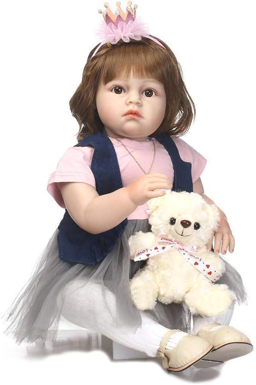 Minsong 70 Cm Baby Prinzessin Mdchen Puppe, Baumwolle Krper Weiches Vinyl Silikon Leben Wie Reborn Babypuppe Neugeborenen Puppen (mit Box)