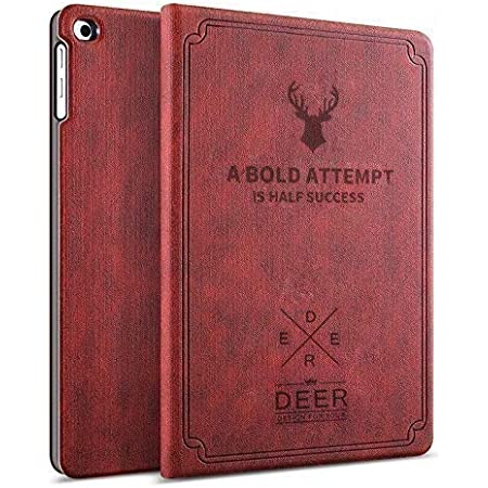 Robustrion Smart Flexible Flip Stand Case Cover for Samsung Galaxy Tab A7 10.4 inch (26.4 cm) [SM-T500/T505/T507] 2020 - Deer Vine Red