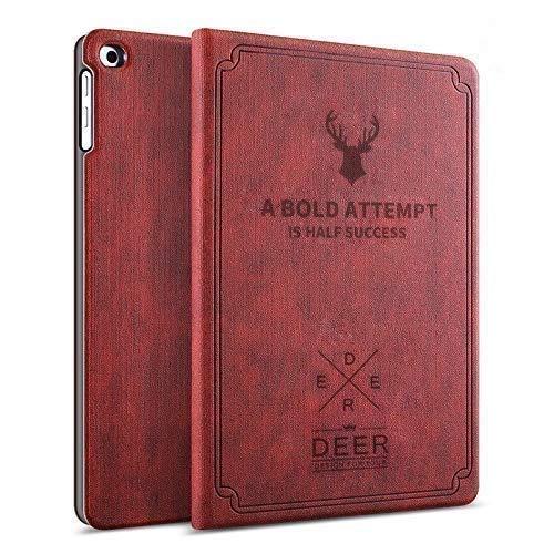Robustrion Smart Flexible Flip Stand Case Cover for Lenovo Tab M10 FHD Plus (1st 2nd Gen) TB-X606V / TB-X606F / TB-X606X 10.3 inch – Deer Vine Red