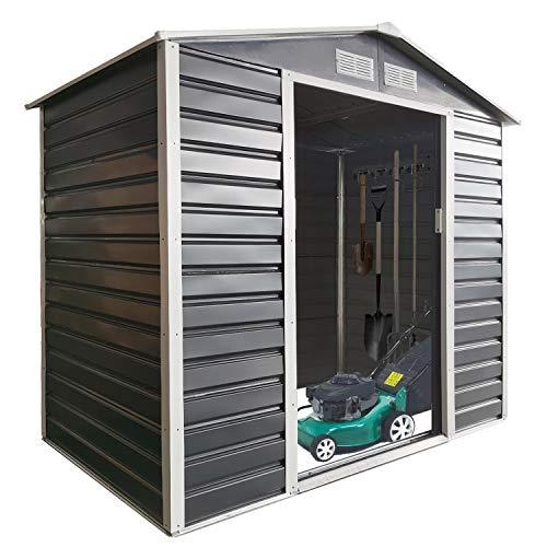 Metal Storage Shed Outdoor, 7'X4' Outdoor Storage Cabinet Waterproof, Outdoor Storage Shed for Garden, Backyard, Patio, Tools
