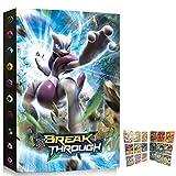 FEEEMAHA Carpeta de Tarjetas, Soporte Compatible con Pokémon, Libro Mejor protección Álbum Tarjetas de Intercambio GX EX - 9 Bolsillos Ponga hasta 432 Tarjetas - 3D Mewtw