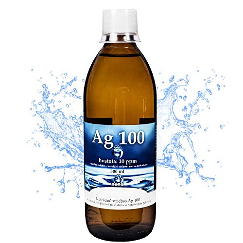 Active Colloidal Silver 20ppm 500ml Certified Colloidal Silver Liquid for Skin