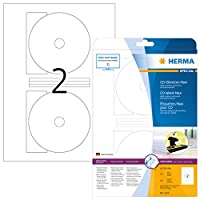 Herma Superprint–selbstklebende undurchsichtige CD / dvd-etiketten–weiß