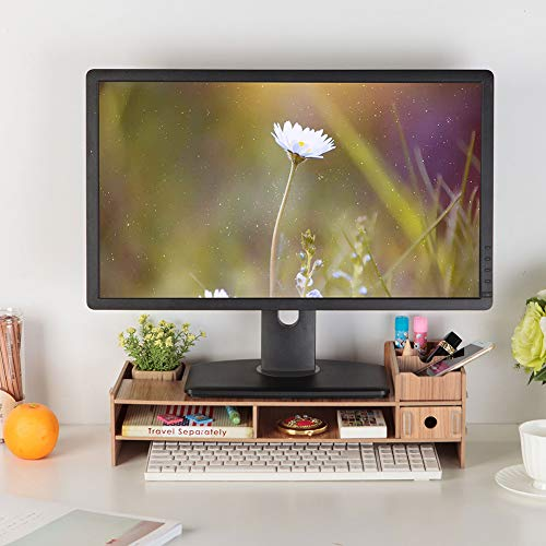 Lantro JS Soporte para computadora portátil, Elevador de Monitor de PC Moderno, Organizador de Archivos de Oficina, Escritorio de Madera Engrosado para la Oficina de la Escuela ⭐