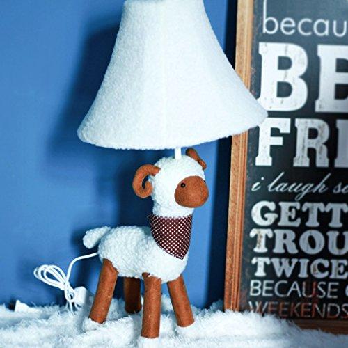 Bonne chose lampe de table Lampe de table en tissu de bande dessinée créative lumière réglable animaux lumières, enfants mignons chambre lampe de table de chambre à coucher