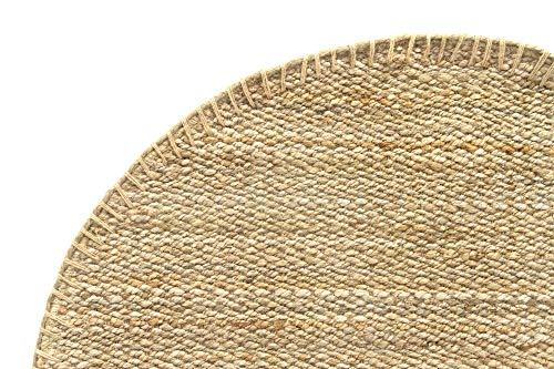 HAMID Jute Teppich - Granada Teppich 100% Natürliche Jutefaser - Weicher Teppich und Hohe Festigkeit - Handgewebt - Wohnzimmer, Esszimmer, Schlafzimmer, Flurteppich - Natürlich (150x150cm) - 2