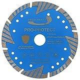 PRODIAMANT Disco de corte de diamante Pro Protect 150 x 22,2 mm, con segmentos de protección para mampostería, piedra, hormigón, B25, granito, tejas de tejas de tejas de tejas de tejas de 150 mm