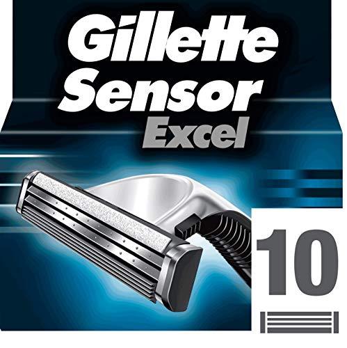 Gillette Sensor Excel - Lame da rasoio da uomo, 10 ricariche