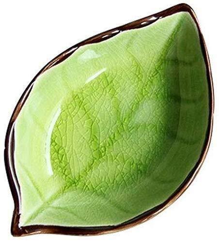 Cuenco de la cultura popular Snack-dip tazón vajilla vajilla de cerámica, hoja de estilo japonés vajilla, vinagre, salsa de soja, especias, placa de aperitivos, platos, placas cuenco de la cultura pop