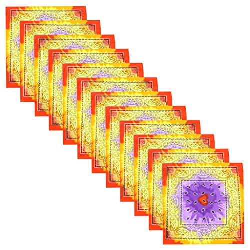 Kviklo 1 Stk /12 Stk Bandanas Halsmanschettenschal für Männer Frauen Multifunktionales TuchTie-Dye Farbverlauf Kopfwickelschal Armband Stirnbänder (Lila-12 stk)
