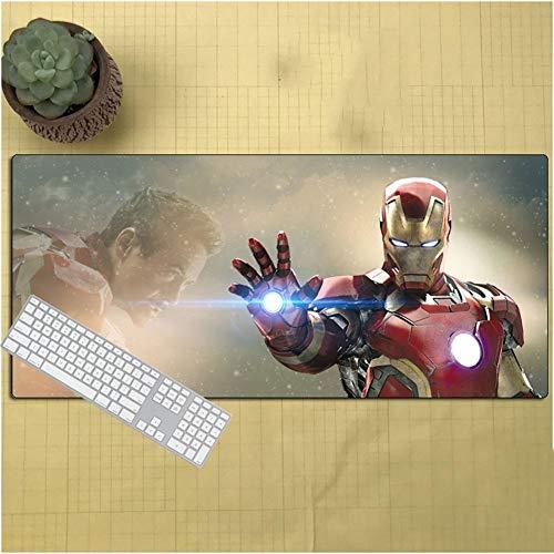 DCDZ Iron Man Gaming Mouse Pad Alfombrilla De Ratón - Oficina Estera Escritorio, Anti Slip Goma Base/Fácil De Limpiar (Liga Vengadores) (Color : C, Size : 90X40X0.3CM)