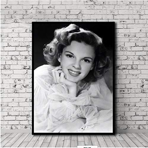 FGVB Black and white Posters Judy Garland Prints Painting Wall Art bedroom decor Decorative Picture 60×90cm Frameless