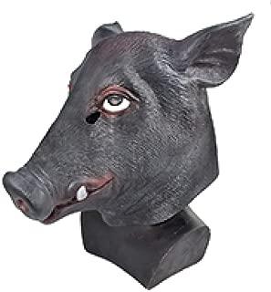 TESTA di Cinghiale Punk Completo Maschera in lattice adulto Halloween fantasia Abito Halloween