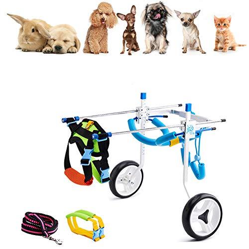 Cora Pet Gehhilfe Hund Rollstuhl Hunderollstuhl für Katze Kaninchen, Hund Hinterbein/Hintere Füße, Leichter Rollwagen Hundegehilfe Hunderollwagen, Dog Wheelchair Einstellbare für Haustier von 2~30 kg
